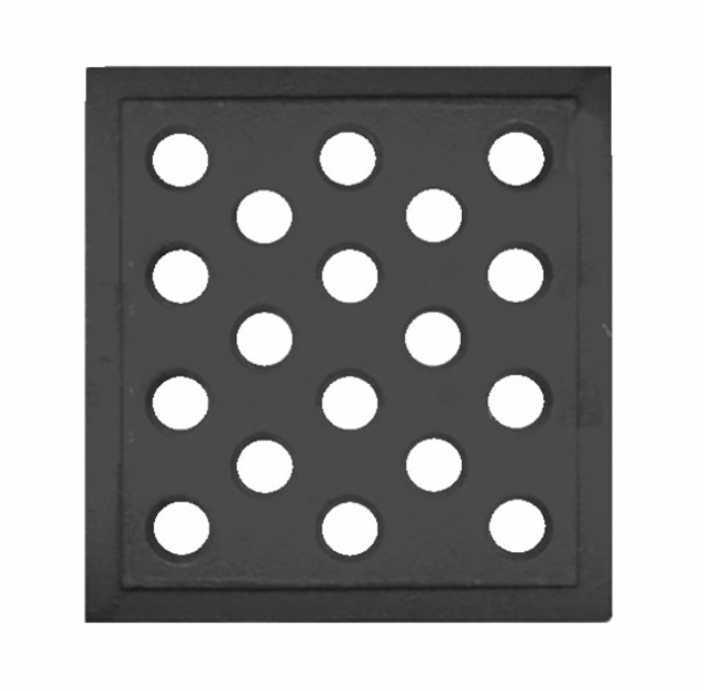 Grille en fonte pour cheminées 160x160mm
