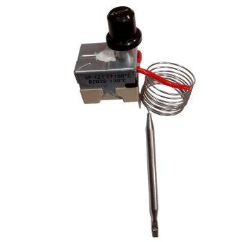 Thermostat poêle à granulé Thermostat capillaire à réarmement manuel 90-110°C