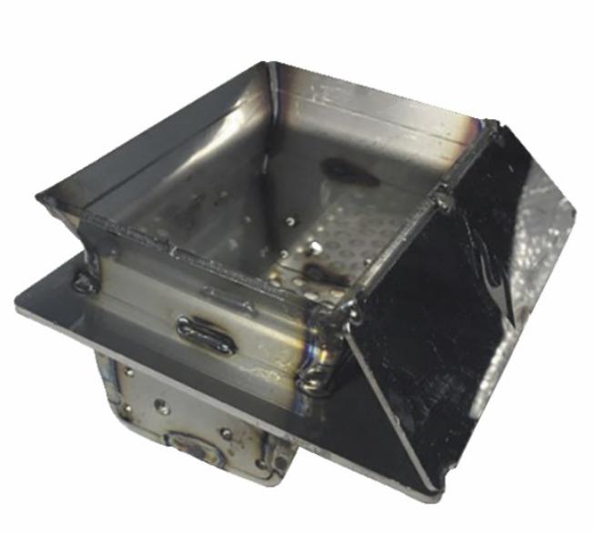Creuset acier 72x142mm