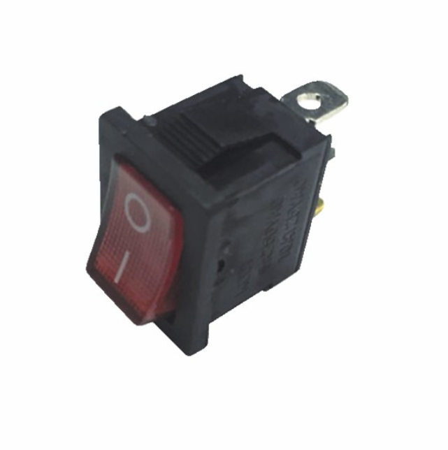 Interrupteur lumineux rouge 0/1 6A 3XFASTON