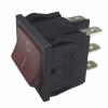 Interrupteur lumineux rouge 0/1 6A 6XFASTON