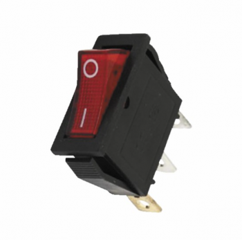 Interrupteurs poêle à granulé Interrupteur lumineux rouge 0/1 15A 3XFASTON