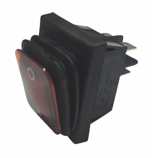Interrupteur lumineux rouge étanche 0/1 16A