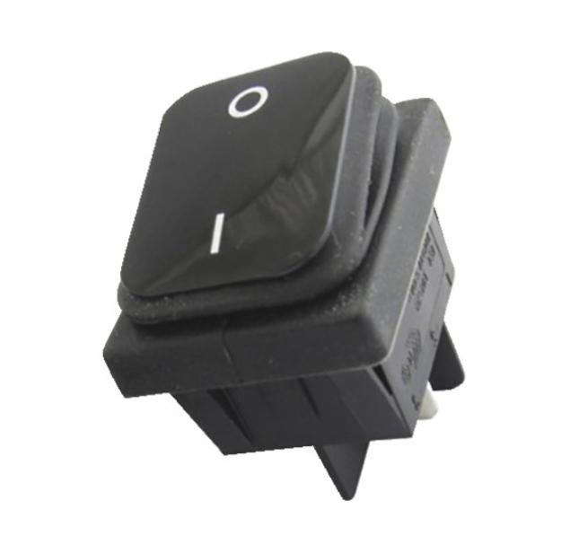 Interrupteur noir étanche 0/1 16A 4XFASTON