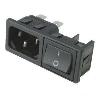 Prise vide et interrupteur 0/1 rectangulaire