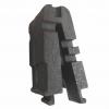 Composant droit pour creuset modulaire